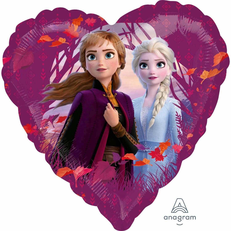 Amscan 4044901 balon foliowy Frozen 2 serce, wielokolorowy