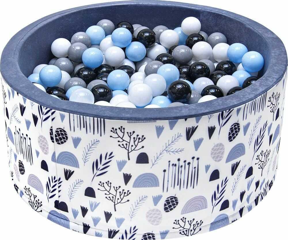 Suchy basen dla dzieci 90x40 z kulkami piłeczkami 7cm - Natura