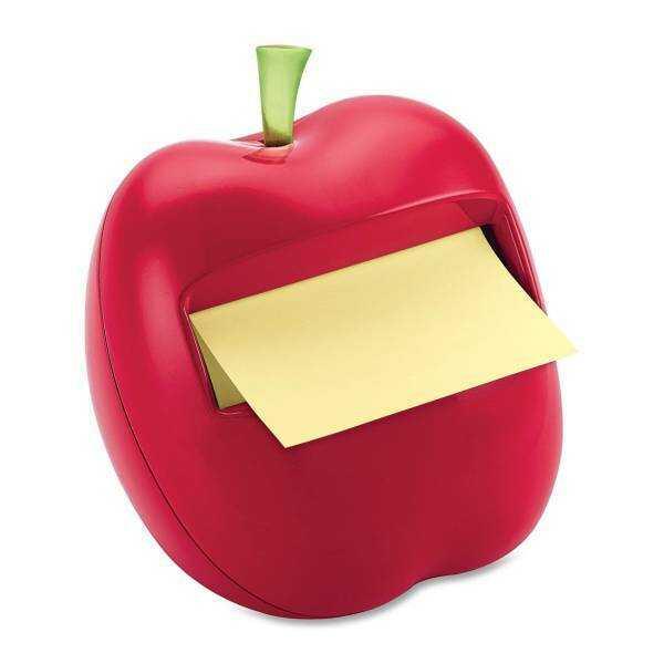 Podajnik w kształcie jabłka APL-330 do bloczków samoprzylepnych POST-IT, Z-NOTES + 1 bloczek - X02586