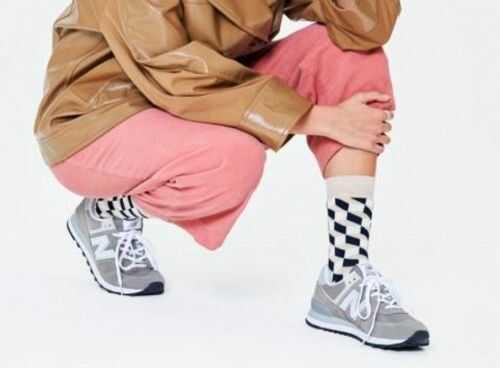 Happy Socks skarpetki FIO01-800 R.36-40 KRATKA