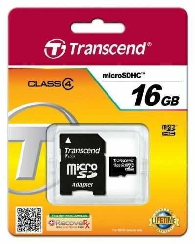 Transcend microSD 16GB Class4 + adapter
