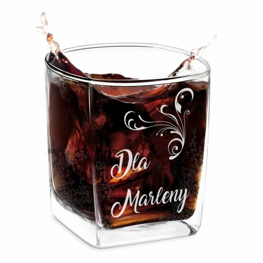 Szklanka do whisky z grawerem dla niej