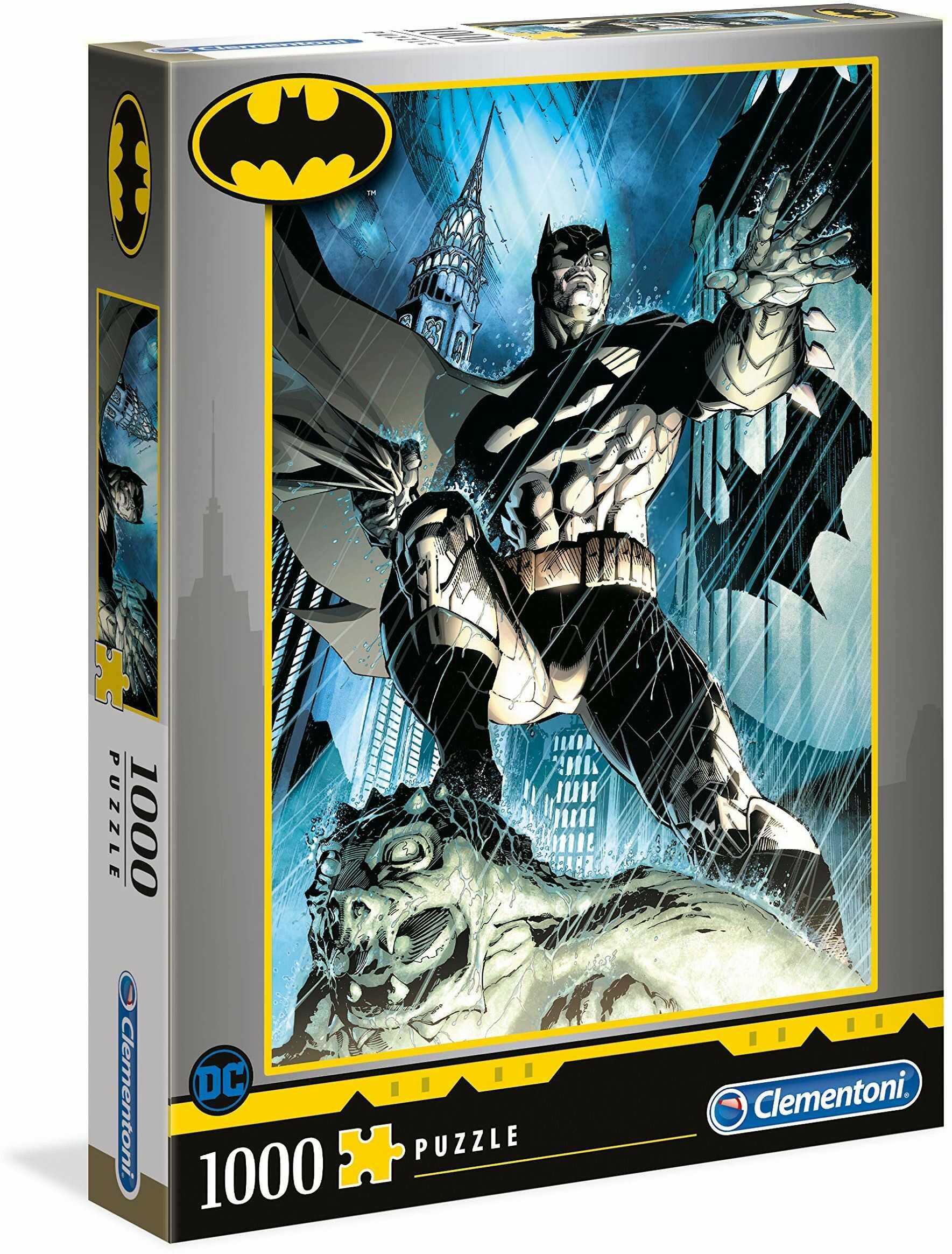 Clementoni 39576 kolekcja wysokiej jakości - Batman-1000 sztuk - wyprodukowano we Włoszech, puzzle dla dorosłych
