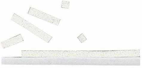 Rayher Hobby 3334002 3D poduszka klejąca, 33 paski po 0,3 x 10 cm, na płytę o wymiarach 10 x 10 cm, docięta, grubość 2 mm, dwustronnie klejąca, biała