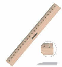 Leniar Linijka drewniana 17cm - Dla Leworęcznych