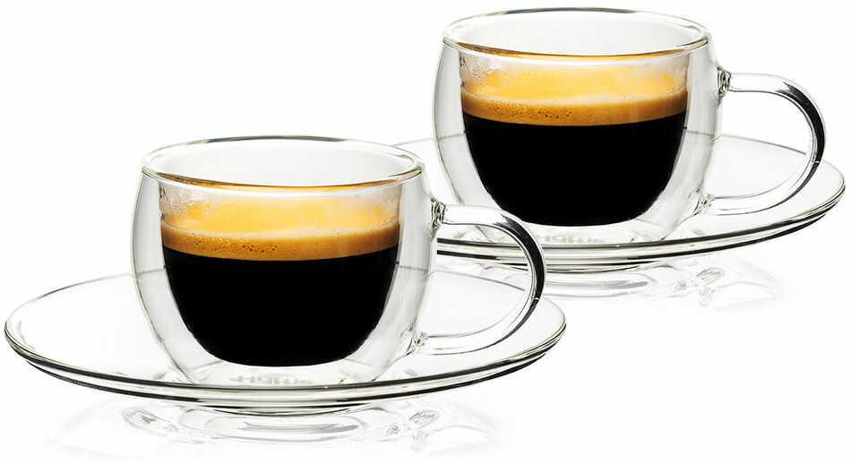 4home Szklanka termiczna do espresso Style Hot&Cool, 80 ml, 2 szt.
