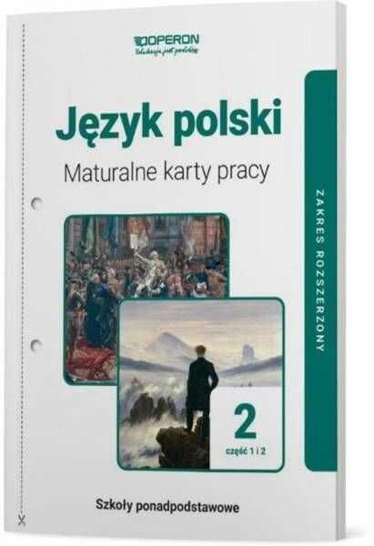 Język polski LO 2 Maturalne karty pracy ZR cz.1-2 - praca zbiorowa