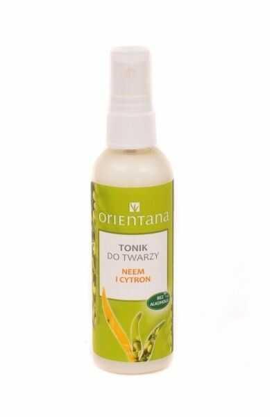 Orientana Tonik do twarzy Neem i cytron, 100 ml