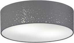 Fischer&Honsel Thor lampa sufitowa, tkanina, 40 W, szara