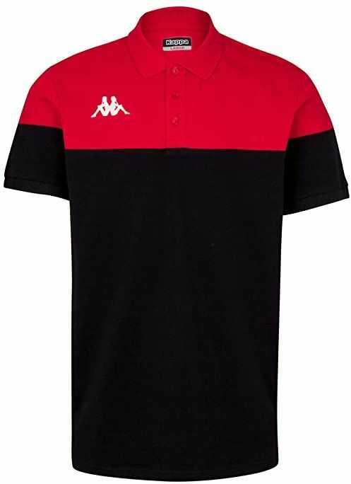 Kappa PIANETTI koszulka polo z krótkim rękawem, męska, czarny/czerwony, S