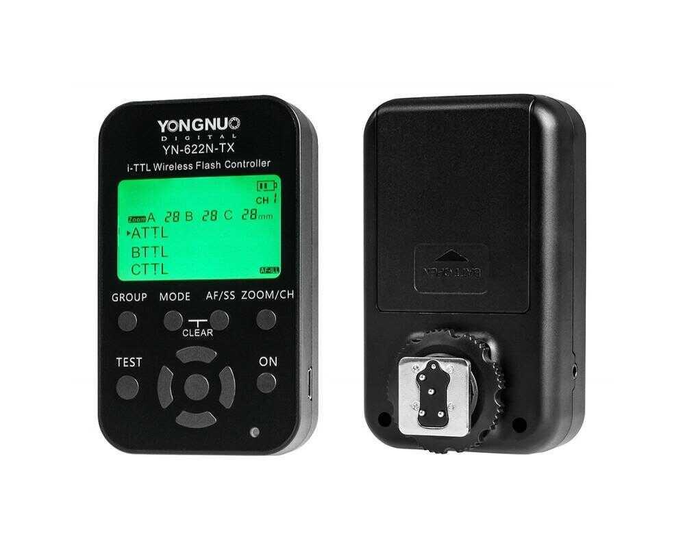Yongnuo YN622N-TX LCD - bezprzewodowy sterownik radiowy 2,4GHz do Nikon Yongnuo YN622N-TX LCD