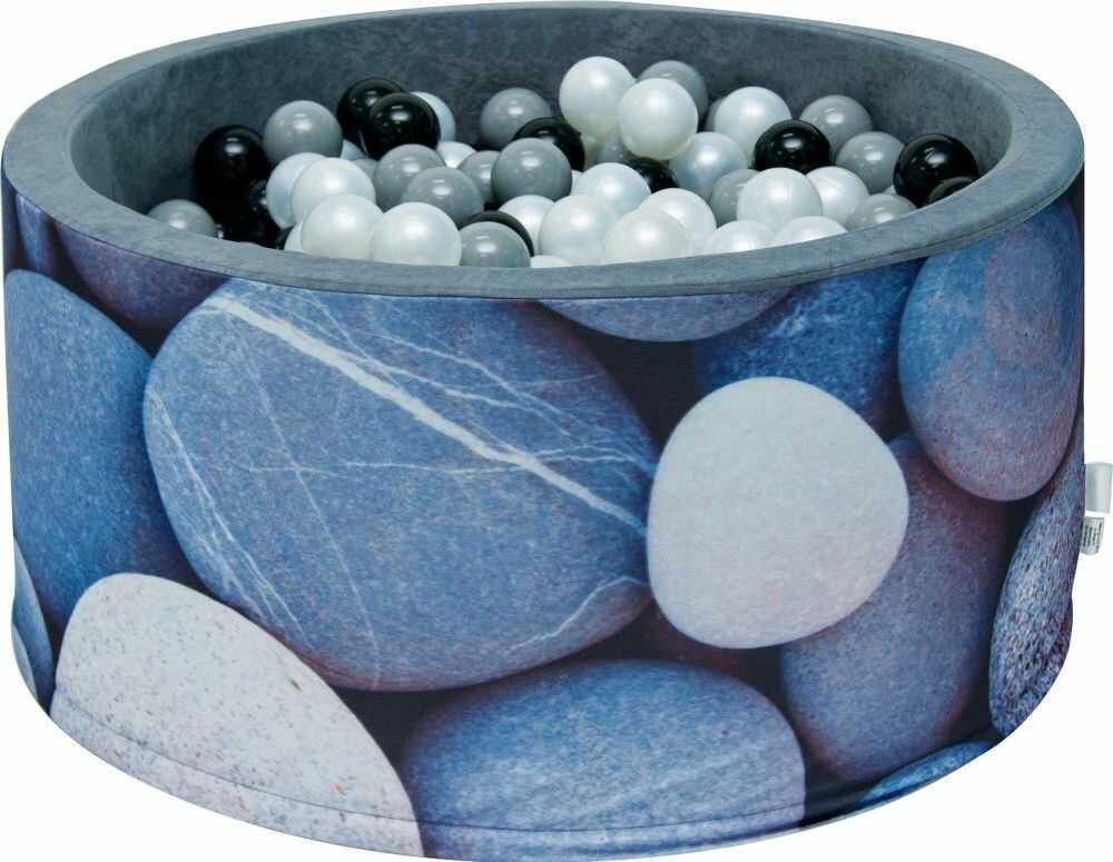 Suchy basen dla dzieci 90x40 z kulkami piłeczkami 7cm - Kamyczki