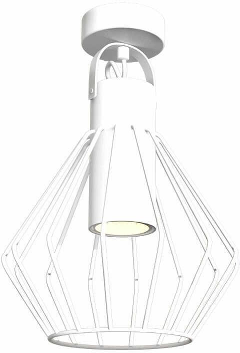 Milagro NIKO WHITE MLP4663 plafon lampa sufitowa koszyk biały industrialny 1xGU10 35cm