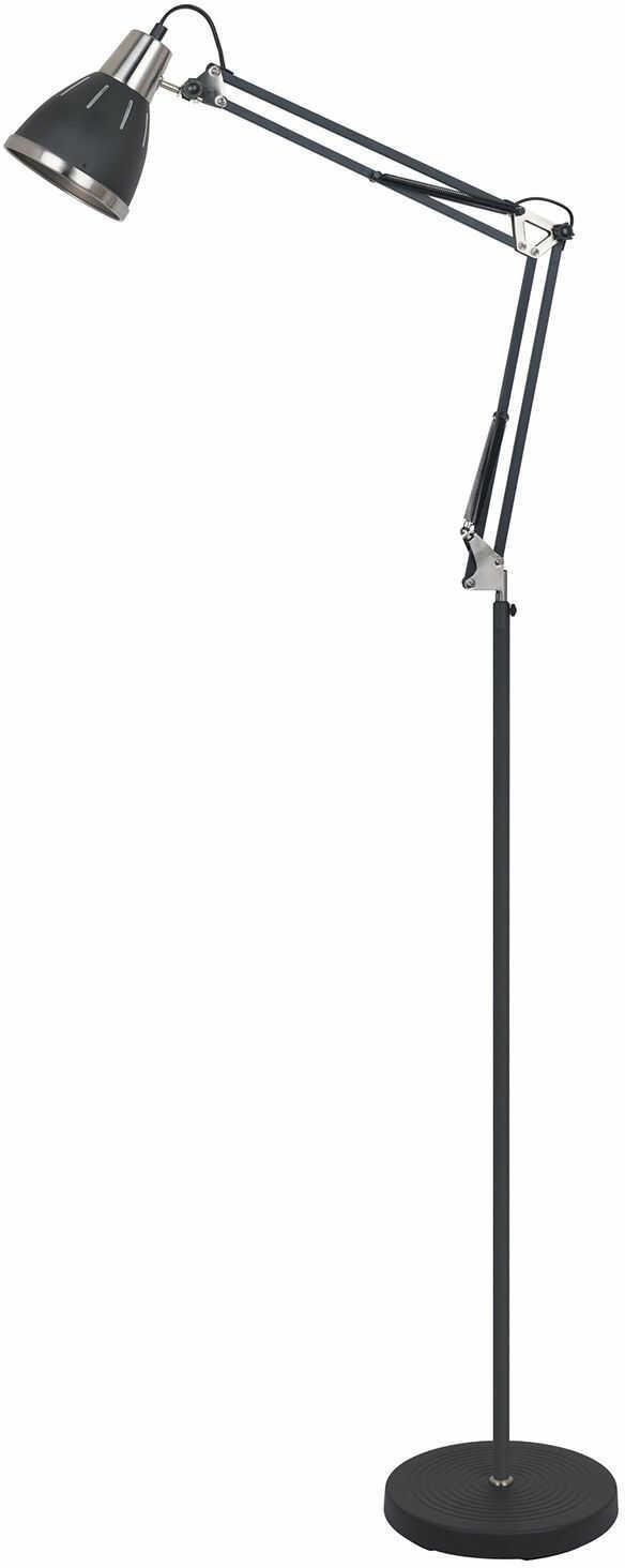 Italux Remiro ML-HN3047 BL+S.NICK lampa podłogowa metalowa czarna industrialna 1x40W E27 max 158,4 cm