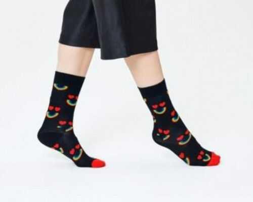 Happy Socks serca skarpetki HAR01-9001 R.41-46 TĘCZA