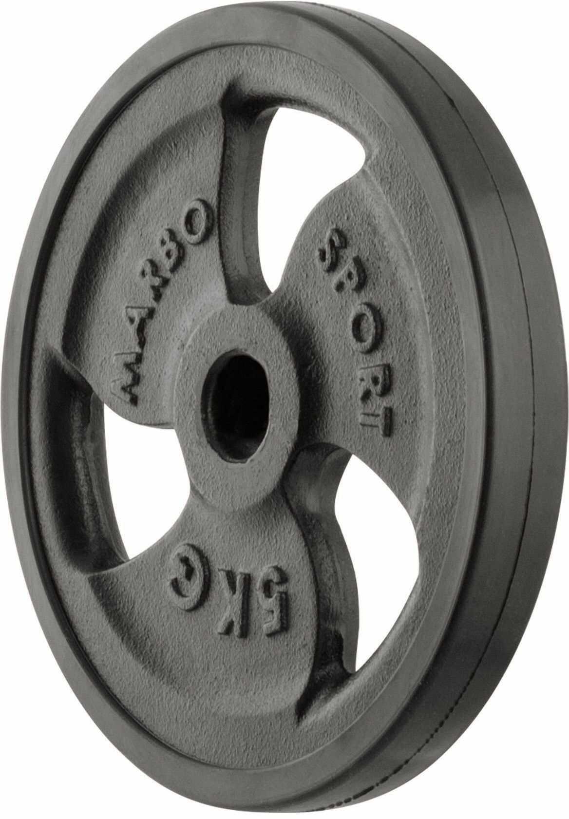 Obciążenie żeliwne gumowane 5 kg MW-O5G-kier - Marbo Sport