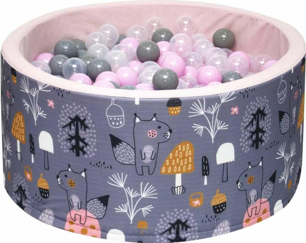 Suchy basen dla dzieci 90x40 z kulkami piłeczkami 7cm - Las