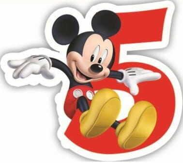 Świeczka w kształcie cyfry 5, Myszka Miki i przyjaciele