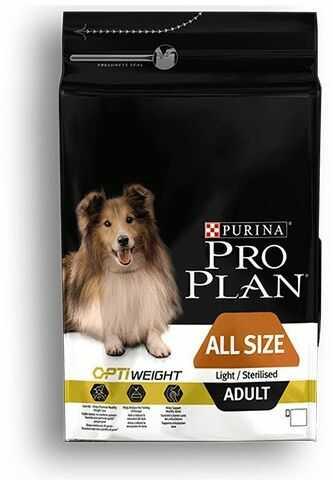 Purina Pro Plan Optiweight All Size Adult Light Sterilised Kurczak