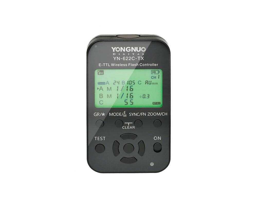 Yongnuo YN622C-TX LCD - bezprzewodowy sterownik radiowy 2,4GHz do Canon Yongnuo YN622C-TX LCD