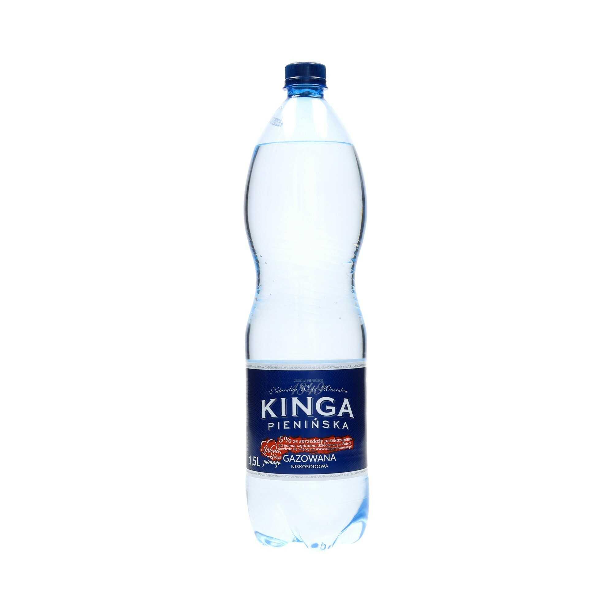 Woda mineralna 1.5l gazowana Kinga Pienińska