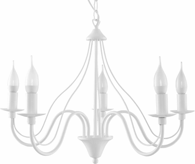 Żyrandol świecznik E754-Minerwi - biały