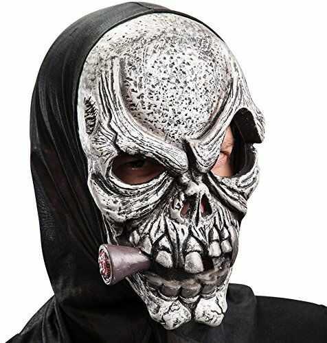 Carnival Toys 738 - maska czaszka z cygarą Lateks