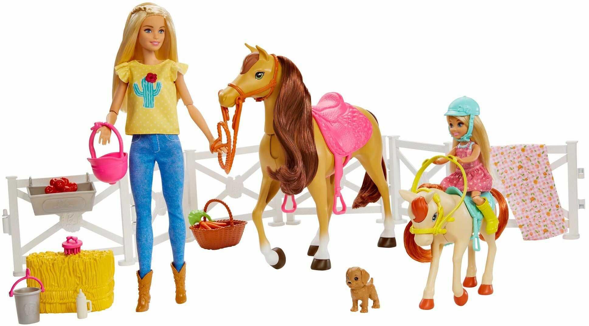 Barbie, Stadnina Koni Zestaw I Lalki GLL70