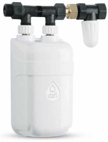 Elektryczny Momentalny Przepływowy Ogrzewacz Wody DAFI IPX4 - wersja z przyłączem i zaworem odcinającym
