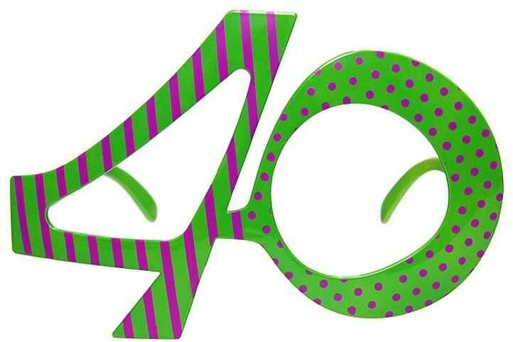 Okulary na 40 urodziny zielone 1szt. OKR9-40
