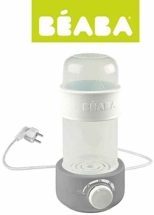 Podgrzewacz i sterylizator parowy do butelek i słoiczków Babymilk Second grey - Beaba