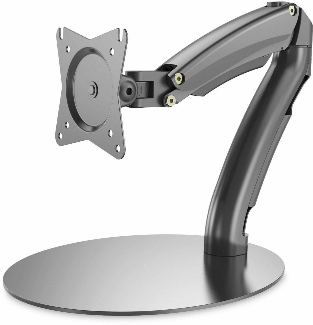 DIGITUS Uchwyt do monitora - podstawa i sprężyna gazowa - 1 monitor - do 27 cali - do 1 x 6,5 kg - VESA 75 i 100 - czarny