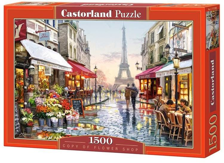Puzzle 1500 Flower Shop CASTOR - Castorland