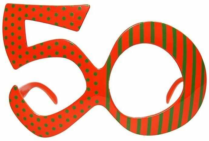 Okulary na 50 urodziny pomarańczowe 1szt OKR9-50