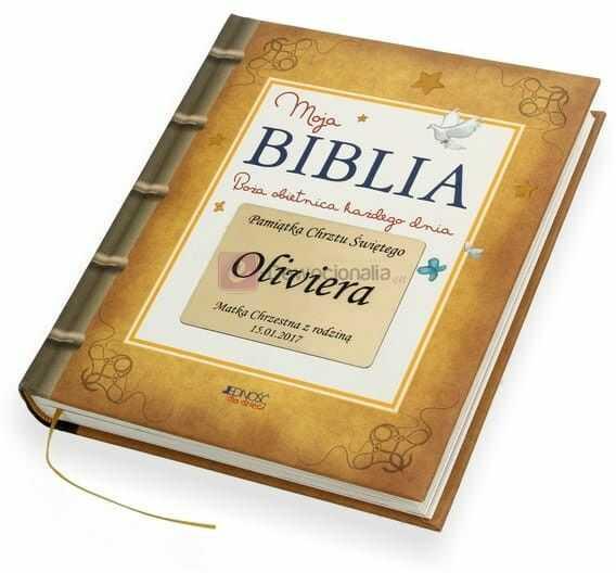 """""""Boża obietnica"""" Moja Biblia z grawerowaną dedykacją (Jedność)"""