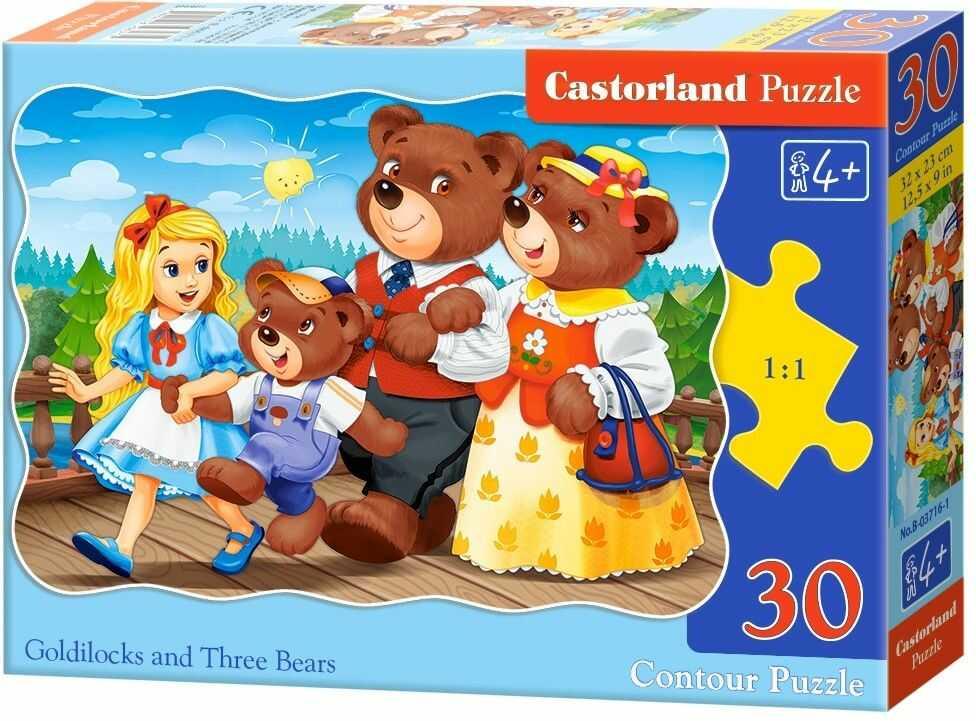 Puzzle Castor 30 - Złotowłosa i trzy niedźwiadki