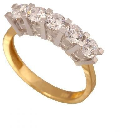 Złoty pierścionek tradycyjny Pi343