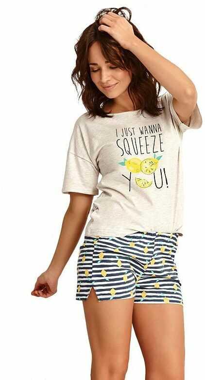 Letnia piżama damska Lemon
