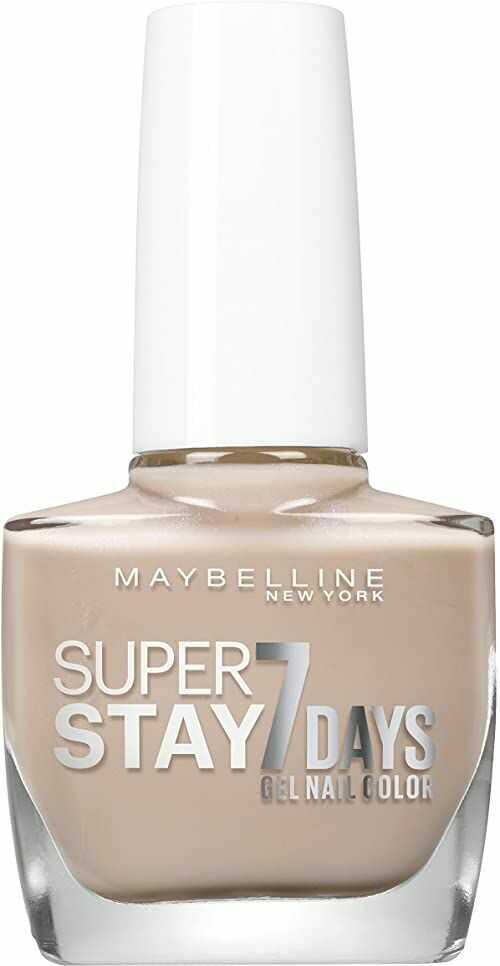 Maybelline New York Lakier do paznokci Superstay 7 Days City Nudes numer 890 szarobrązowa stal, 1 opakowanie (1 x 10 ml)