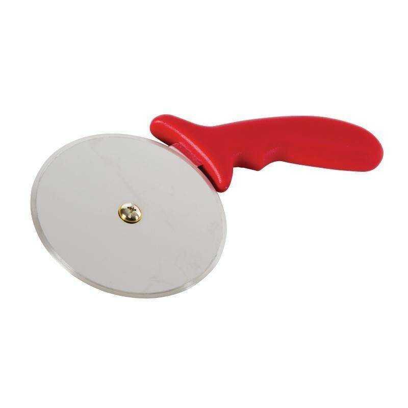 Radełko do pizzy czerwone 10(Ø)cm
