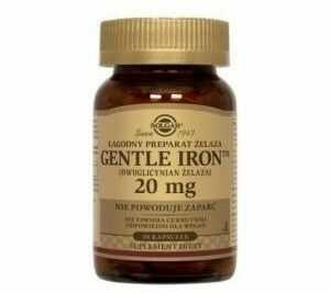Solgar gentle iron żelazo 20 mg 90 kapsułek