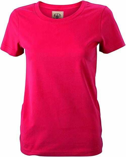 James & Nicholson Damski T-shirt w stylu vintage dla kobiet w ciąży Czerwony (czerwony) XS