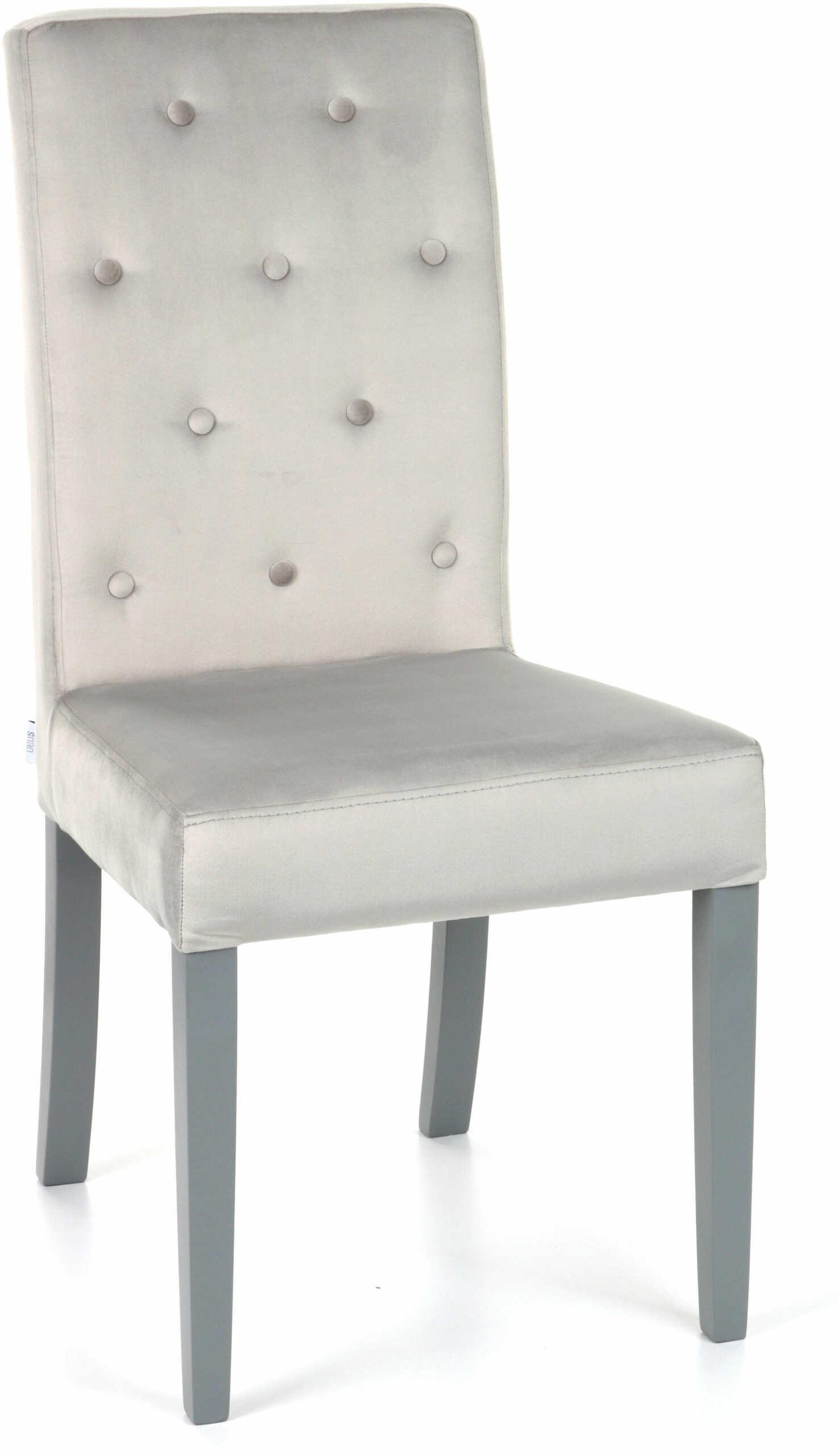 Krzesło Simple 100 z guzikami, tapicerowane, wygodne, ozdobne, eleganckie, proste, ponadczasowe, do salonu, do jadalni, klasyczny, o ponadczasowym designie