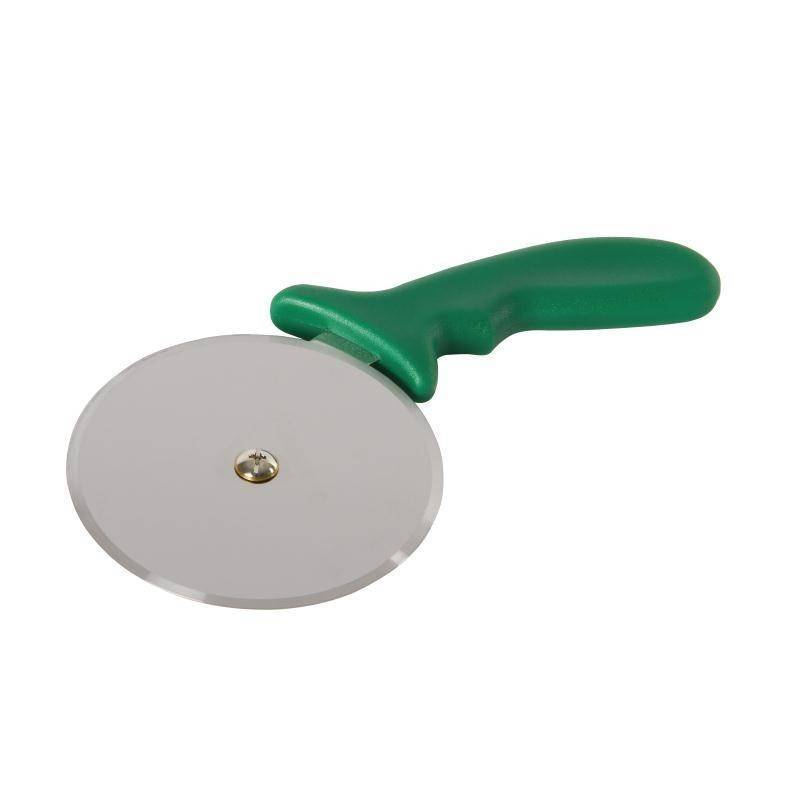 Radełko do pizzy zielone 10(Ø)cm