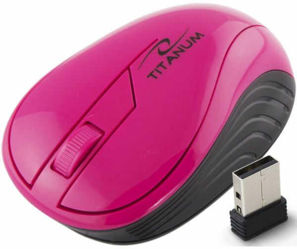 TM115P Titanum mysz bezprz. 2.4ghz 3d opt. usb neon różowa