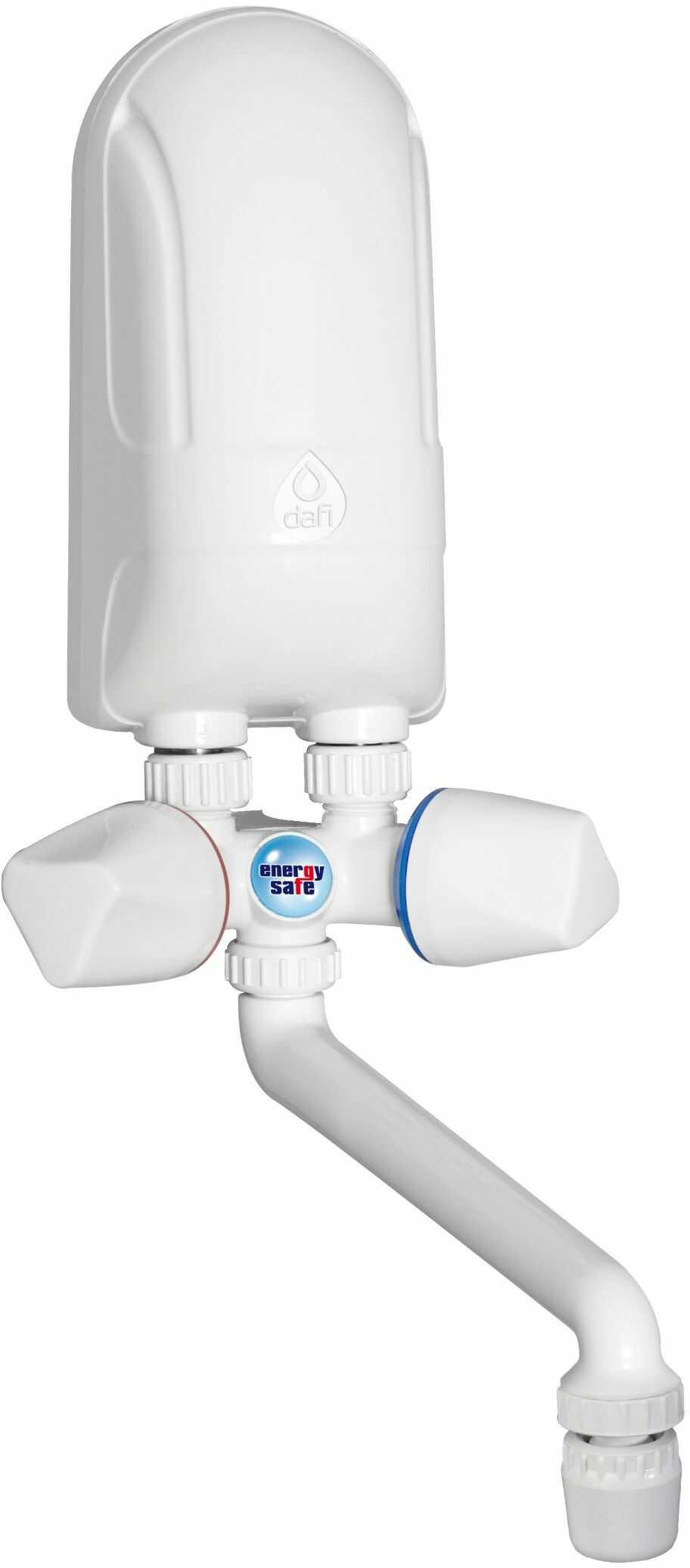 Elektryczny Momentalny Przepływowy Ogrzewacz Wody DAFI IPX5 - wersja z baterią z tworzywa sztucznego w kolorze białym