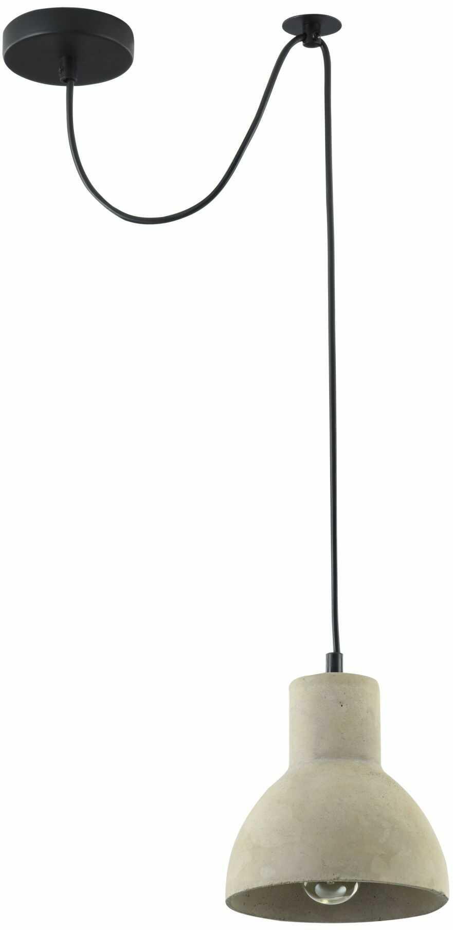 Maytoni Broni T434-PL-01-GR lampa wisząca metalowa osłona sufitowa czarna klosz betonowy szary 1 X E27 60W 16 cm