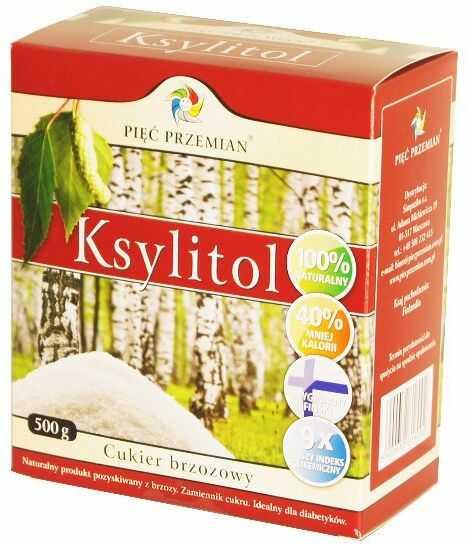 Ksylitol Cukier Brzozowy 500g Fiński - Pięć Przemian