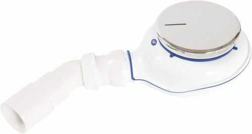 Syfon do brodzików o odpływie 90 mm, easy clean  chrom