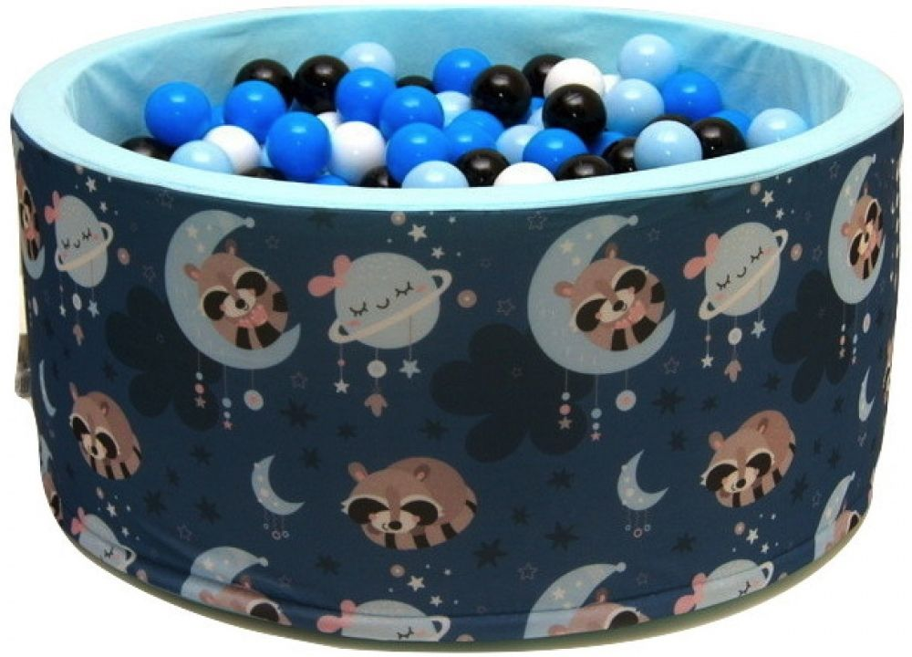 Suchy basen dla dzieci 90x40 z kulkami piłeczkami 7cm - Szop na księżycu